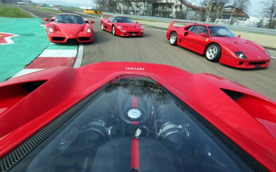 4 supercar Ferrari Fiorano